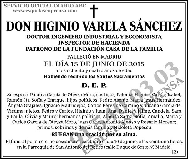 Higinio Varela Sánchez